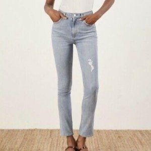 Reformation Hepburn High Rise Skinny Jeans Ibiza